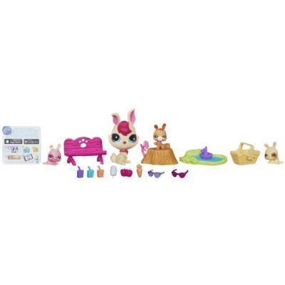 Littlest Pet Shop Magic Motion - Ensemble Maman et bébés lapins en pique-nique