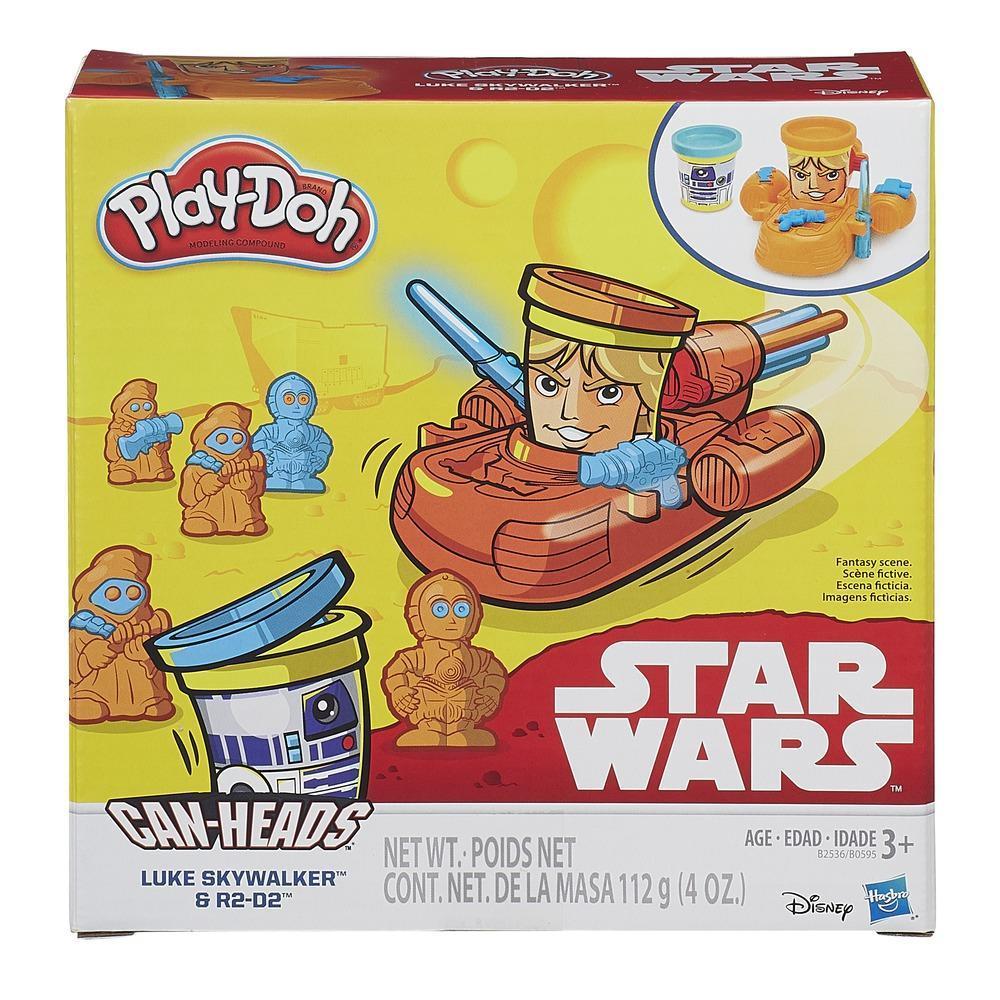 Play Doh Star Wars - Can Heads Luke Skywalker et R2-D2