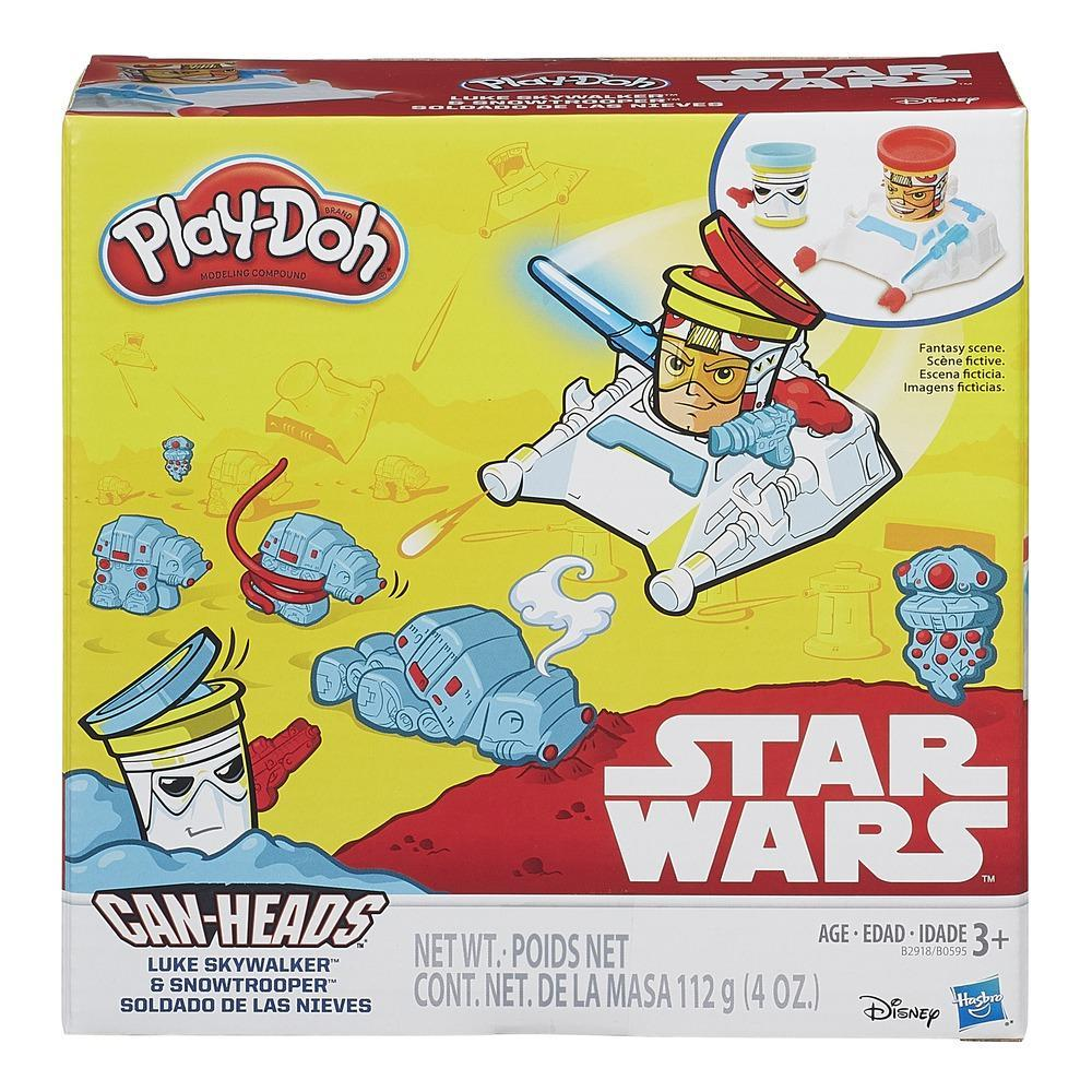 Play Doh Star Wars - Can Heads Luke Skywalker et snowtrooper