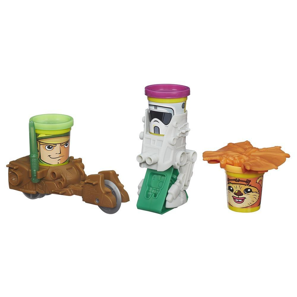 Play Doh Star Wars - Mission sur Endor avec personnages Can-Heads