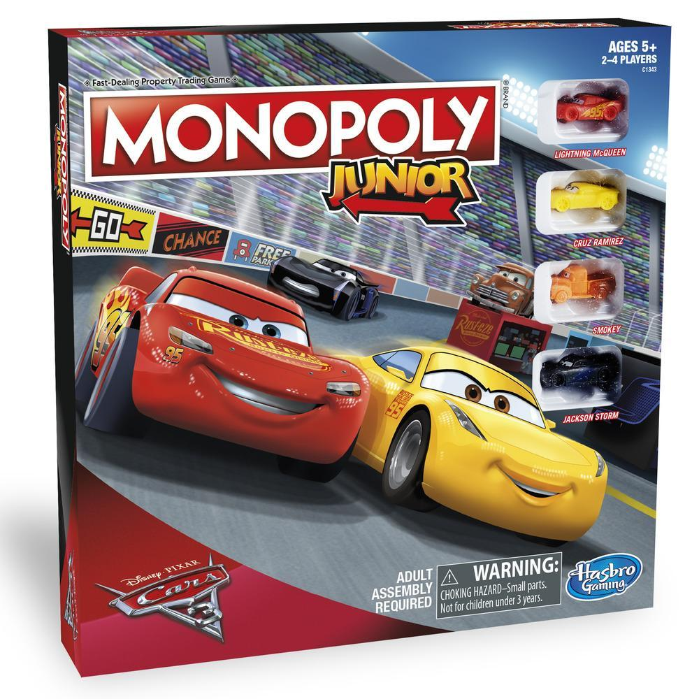 Monopoly Junior, édition Les bagnoles 3 Disney / Pixar