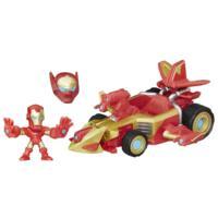 Marvel Super Hero Mashers - Figurine d'Iron Man et accélérateur sonique
