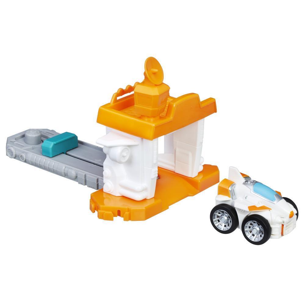 Playskool Heroes Transformers Rescue Bots Flip Racers - Aéroport à catapulte de Blades