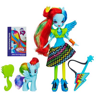 My Little Pony Equestria Girls Rainbow Rocks - Ensemble poupée et pouliche Rainbow Dash