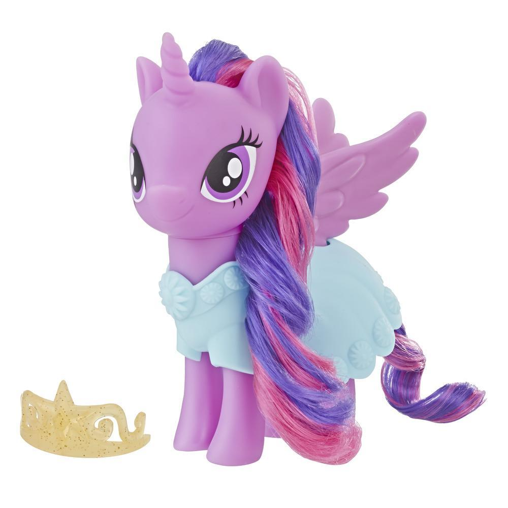 My Little Pony Toy Twilight Sparkle Dress-Up Figure – Purple 6-Inch Pony with Fashion Accessories