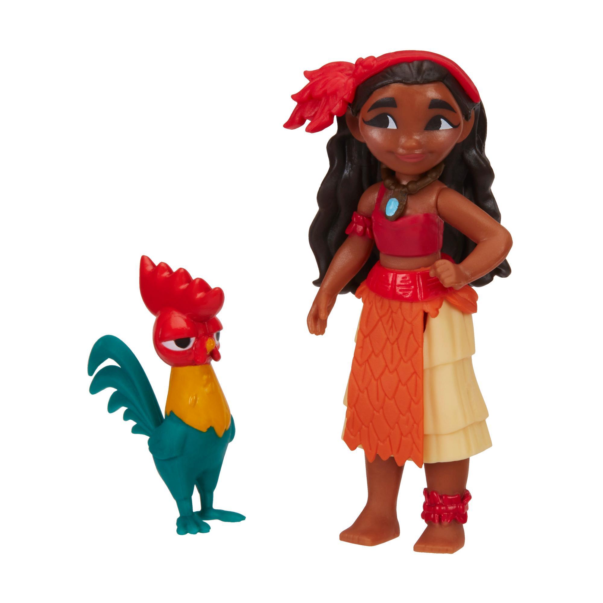 Mini Poupée Vaiana et Heihei