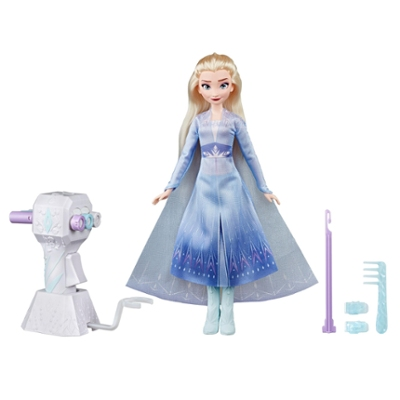 Disney Frozen Sister Styles Elsa Fashion Doll With Extra-Long Blonde Hair, Braiding Tool and Hair Clips - Toy For Kids Ages 5 and Up
