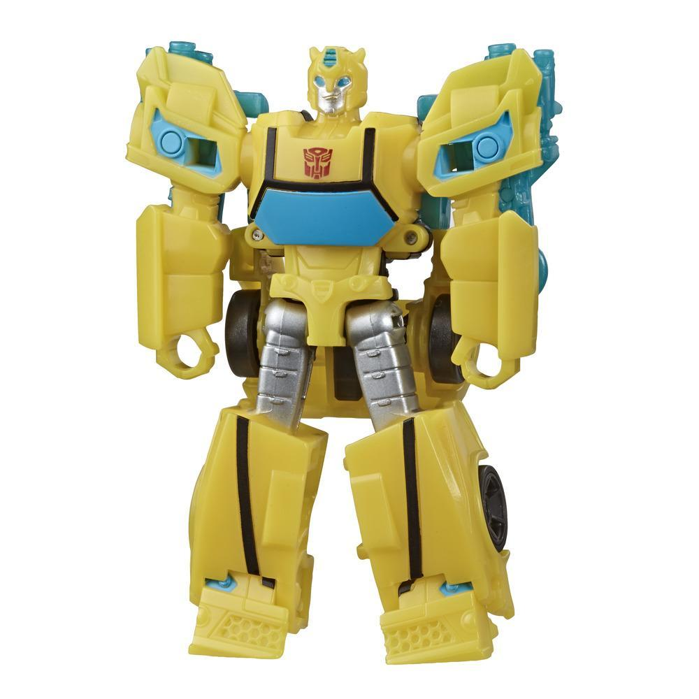 Transformers Bumblebee Cyberverse Adventures Action Attackers Scout Class Bumblebee Action Figure - Hive Swarm Action Attack, 3.75-inch