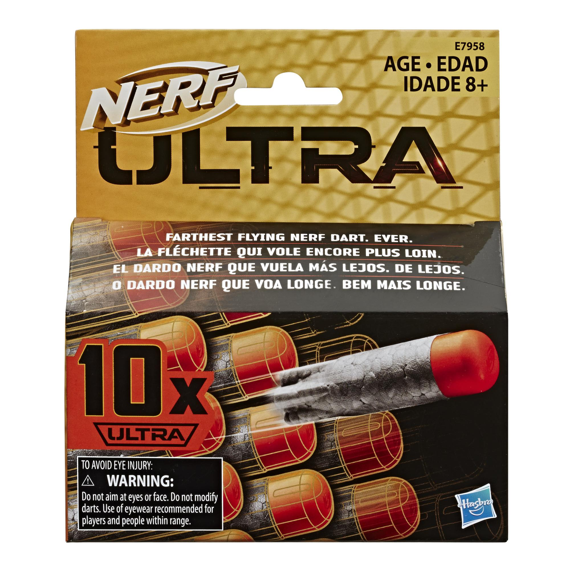 Recharge de 10 fléchettes Nerf Ultra- Le nec plus ultra en tir de fléchettes Nerf, compatibles seulement avec les blasters Nerf Ultra