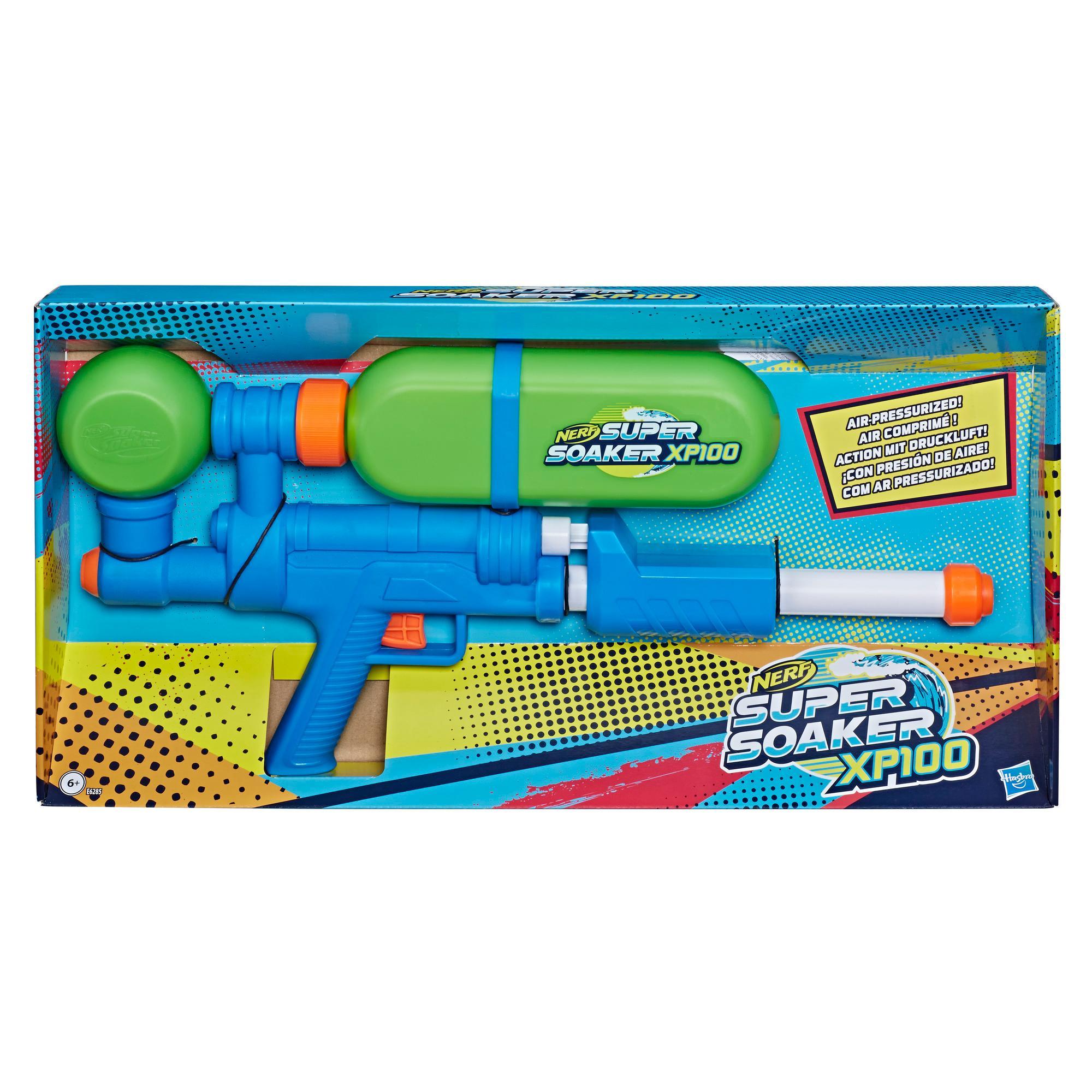 Nerf Super Soaker blaster à eau XP100 - jet continu à air comprimé - réservoir amovible - pour enfants, ados et adultes