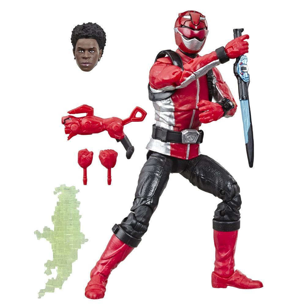 POWER RANGERS PREMIUM - FIGURINES RANGERS BM ROUGE 15CM