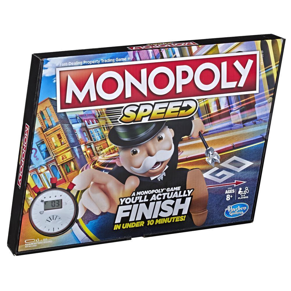 Jeu de plateau Monopoly Speed, pour enfants, à partir de 8ans