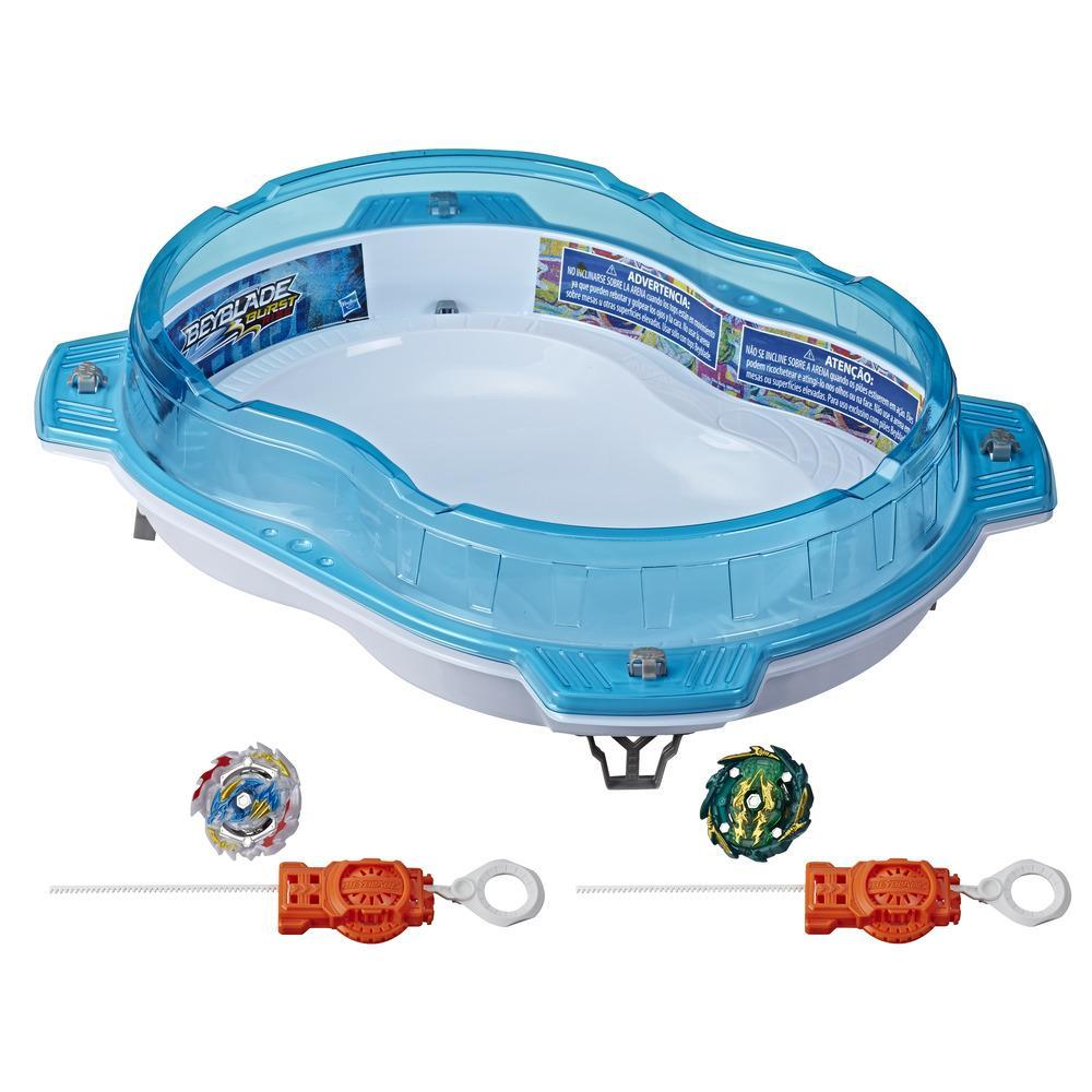 Beyblade Burst Rise Hypersphere Vertical Drop Battle Set -- Complete Set with Beystadium, Battling Top Toys, Launchers