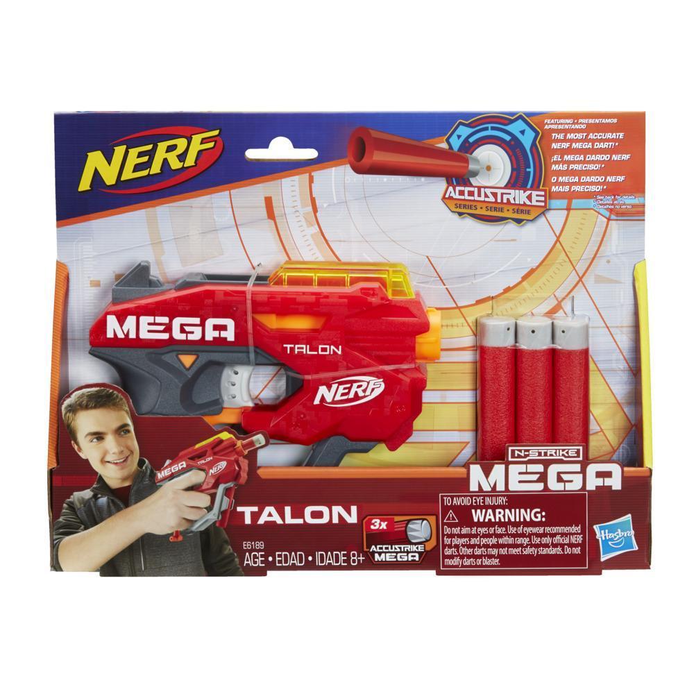Blaster Nerf Mega Talon - Inclut 3 fléchettes Nerf Mega AccuStrike officielles, pour enfants, ados et adultes