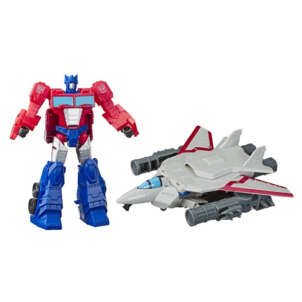 TRANSFORMERS CYBERVERSE - ROBOT COMBINABLE 2 EN 1 OPTIMUS 20CM