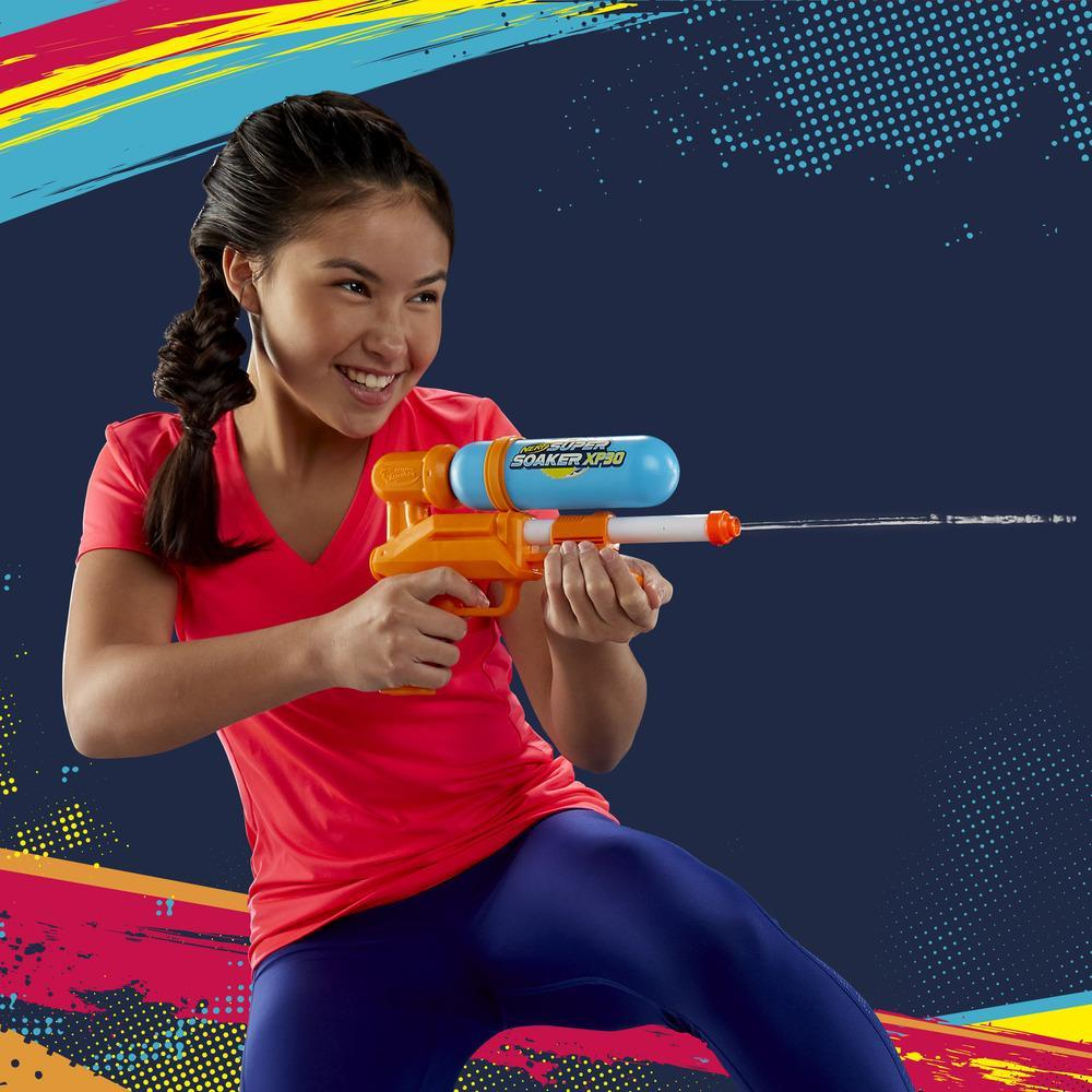 Nerf Super Soaker blaster à eau XP30 - jet continu à air comprimé - réservoir amovible - pour enfants, ados et adultes