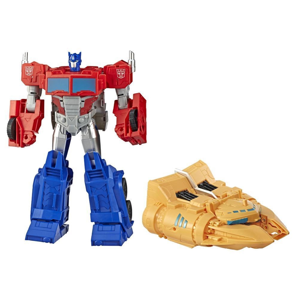 TRANSFORMERS CYBERVERSE - ROBOT COMBINABLE 2 EN 1 OPTIMUS 30CM