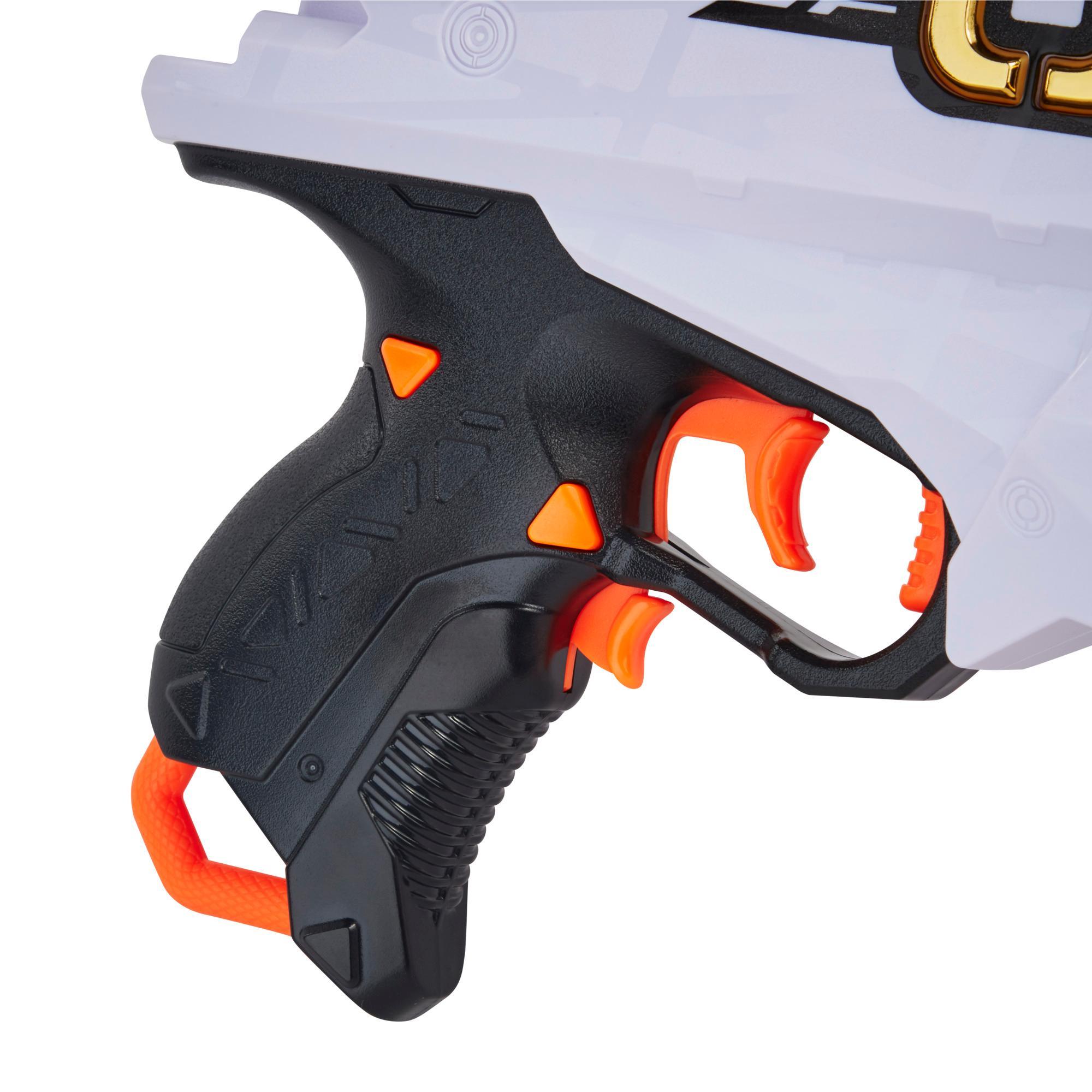 Nerf Ultra Amp, Blaster motorisé, chargeur 6 fléchettes, 6 fléchettes, compatible uniquement avec fléchettes Nerf Ultra