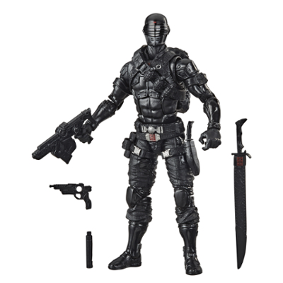 G.I. Joe Classified Series, figurine Snake Eyes 02 premium à collectionner de 15 cm, accessoires multiples