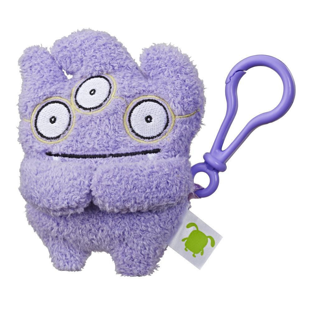 UglyDolls Tray To-Go Stuffed Plush Toy with Clip, 5 inches tall