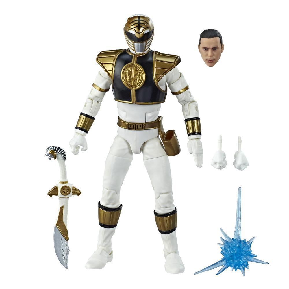 Power Rangers Lightning Collection - Figurine de collection Mighty Morphin Ranger blanc de 15 cm