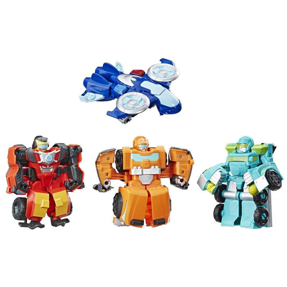 TRANSFORMERS RESCUE BOT ACADEMY - ROBOT SECOURISTE 2 EN 1 PACK DE 4