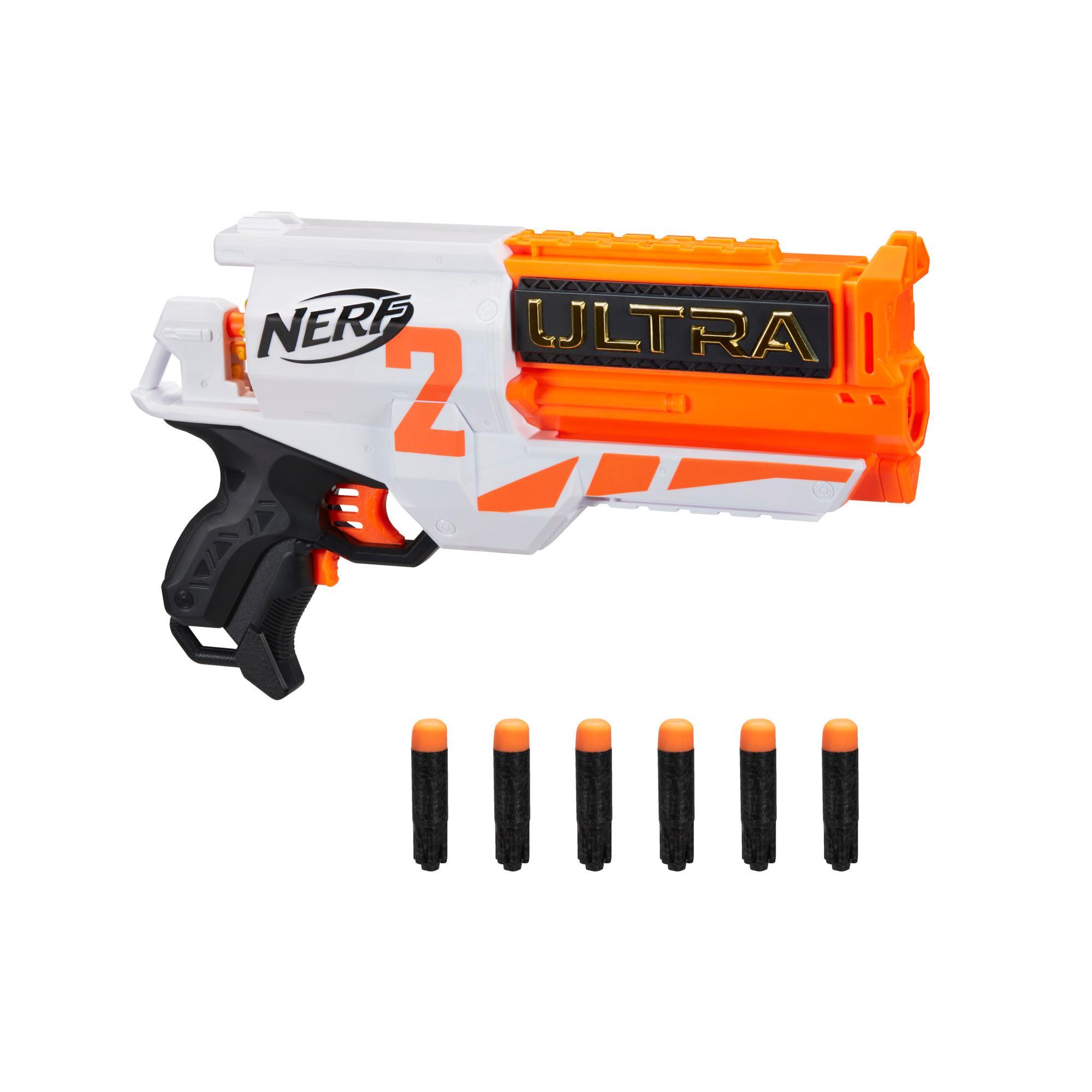 Nerf Ultra Two - Blaster motorisé, recharge rapide, inclut 6 fléchettes Nerf Ultra, compatible uniquement avec les fléchettes Nerf Ultra