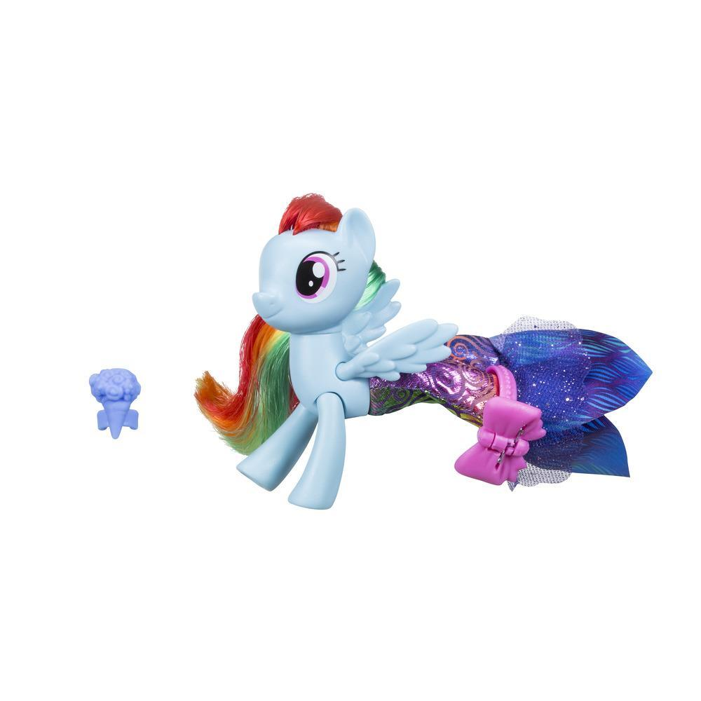 My Little Pony Le Film PONEY SIRENE ARTICULE + jupe RAINBOW DASH