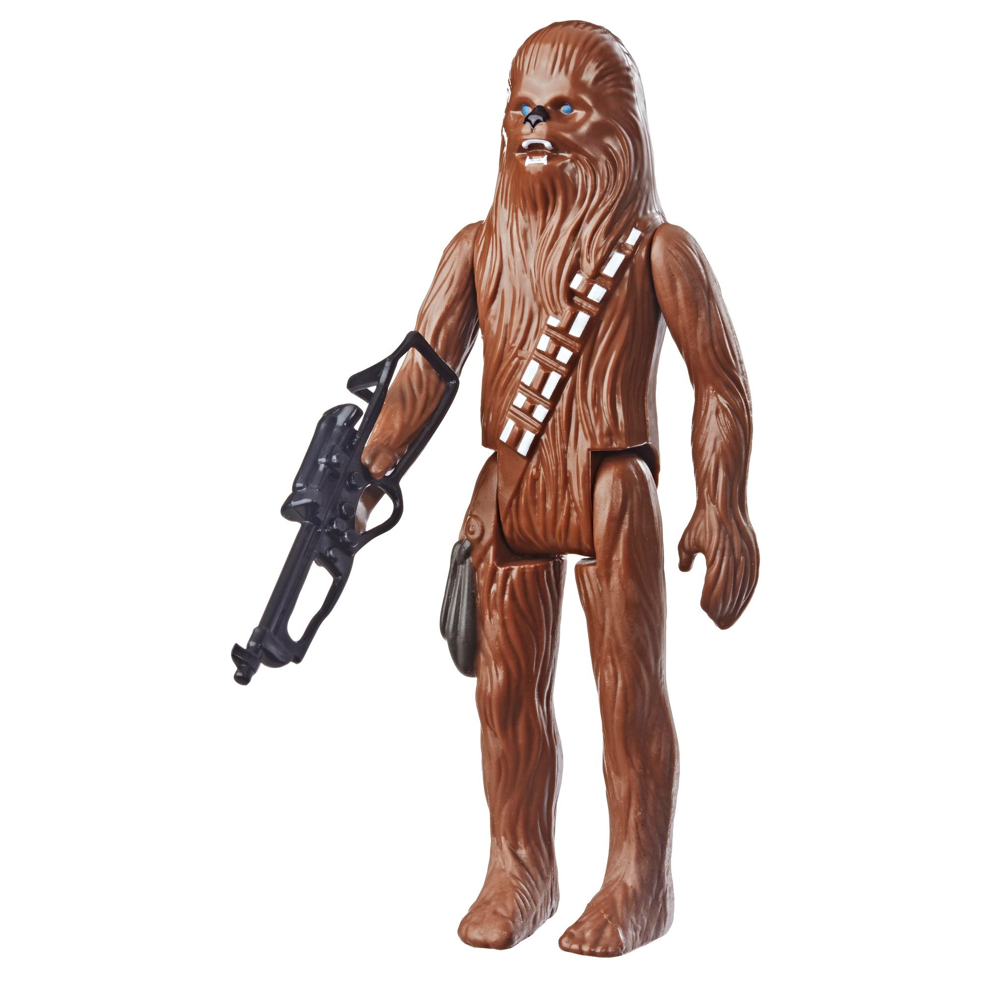 Star Wars Retro Collection Episode IV: A New Hope Chewbacca 3.75-Inch-Scale Action Figure Toy – Inspired by Classic 1970s-Sculpt and Packaging Collectible Star Wars Figure
