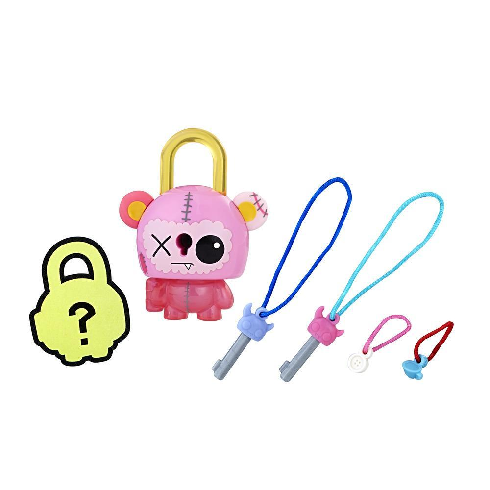 FIGURINE LOCK STARS - CADENAS A COLLECTIONNER - OURS ROSE - SERIE 2