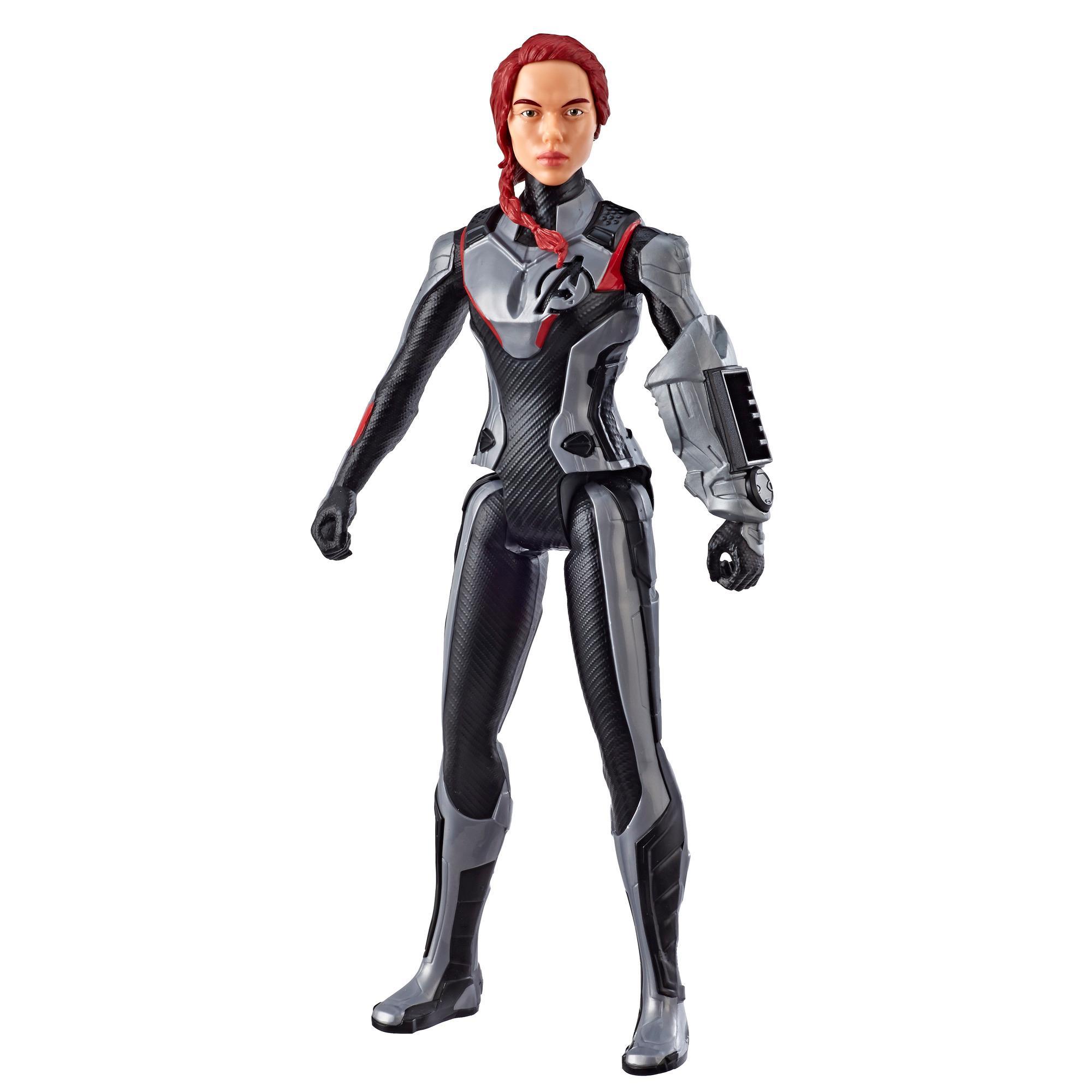Marvel Avengers : Phase finale Titan Hero Series - Figurine jouet de superhéroïne Black Widow de 30 cm avec port Titan Hero Power FX
