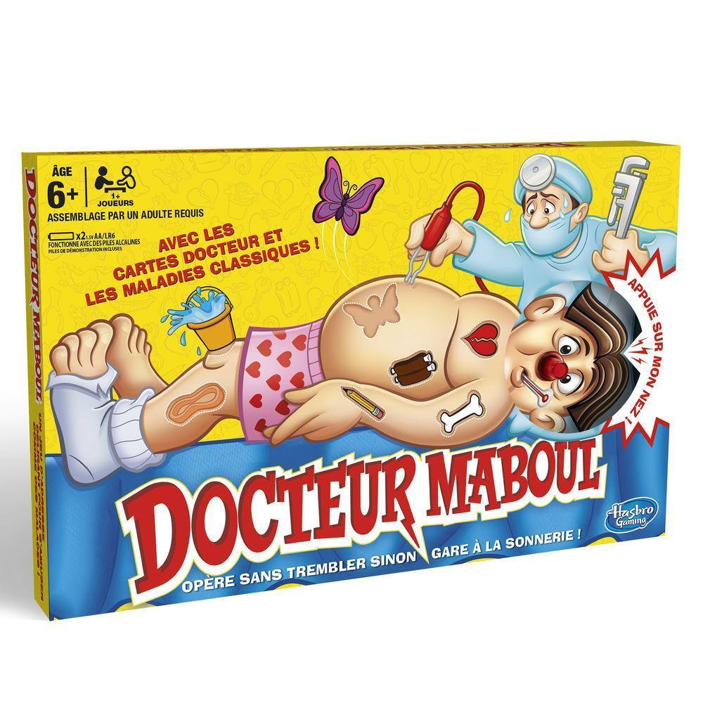 Docteur Maboul classique, jeu de plateau électronique avec cartes, jeu d'intérieur pour enfants à partir de 6 ans