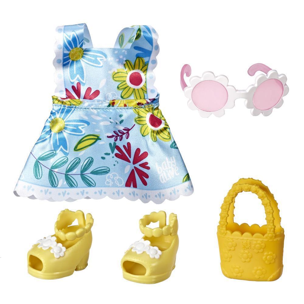 Littles de Baby Alive, tenue Little Styles Jeux au soleil pour poupées Littles, vêtements de poupée, pour enfants, à partir de 3 ans