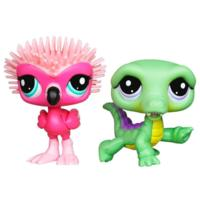 PETSHOP DUO : FLAMAND ROSE ET CROCODILE