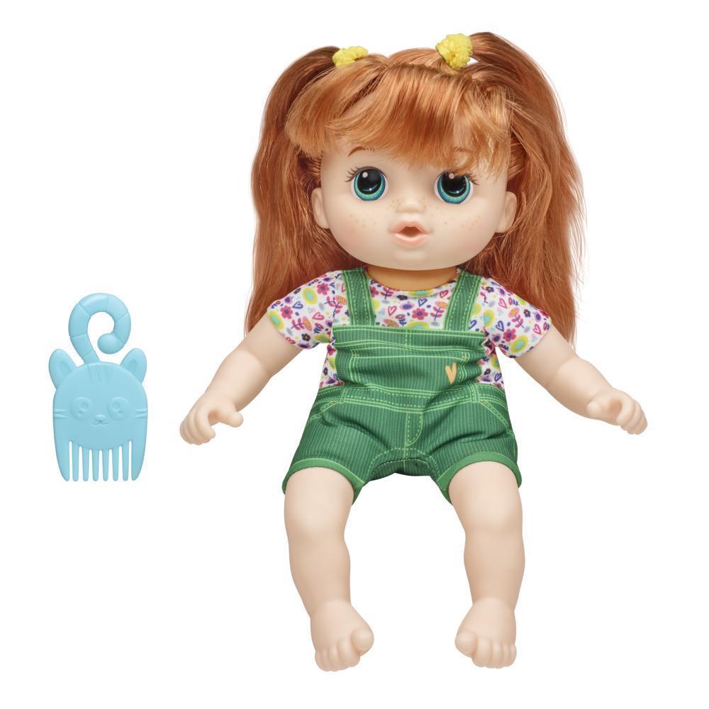Littles de Baby Alive, Petite Eva, cheveux roux, poupée avec peigne, taille de 22,5 cm, pour enfants, à partir de 3 ans