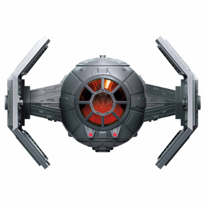 Star Wars Mission Fleet, Dark Vador et chasseur TIE avancé, figurine de 6 cm avec véhicule, dès 4 ans