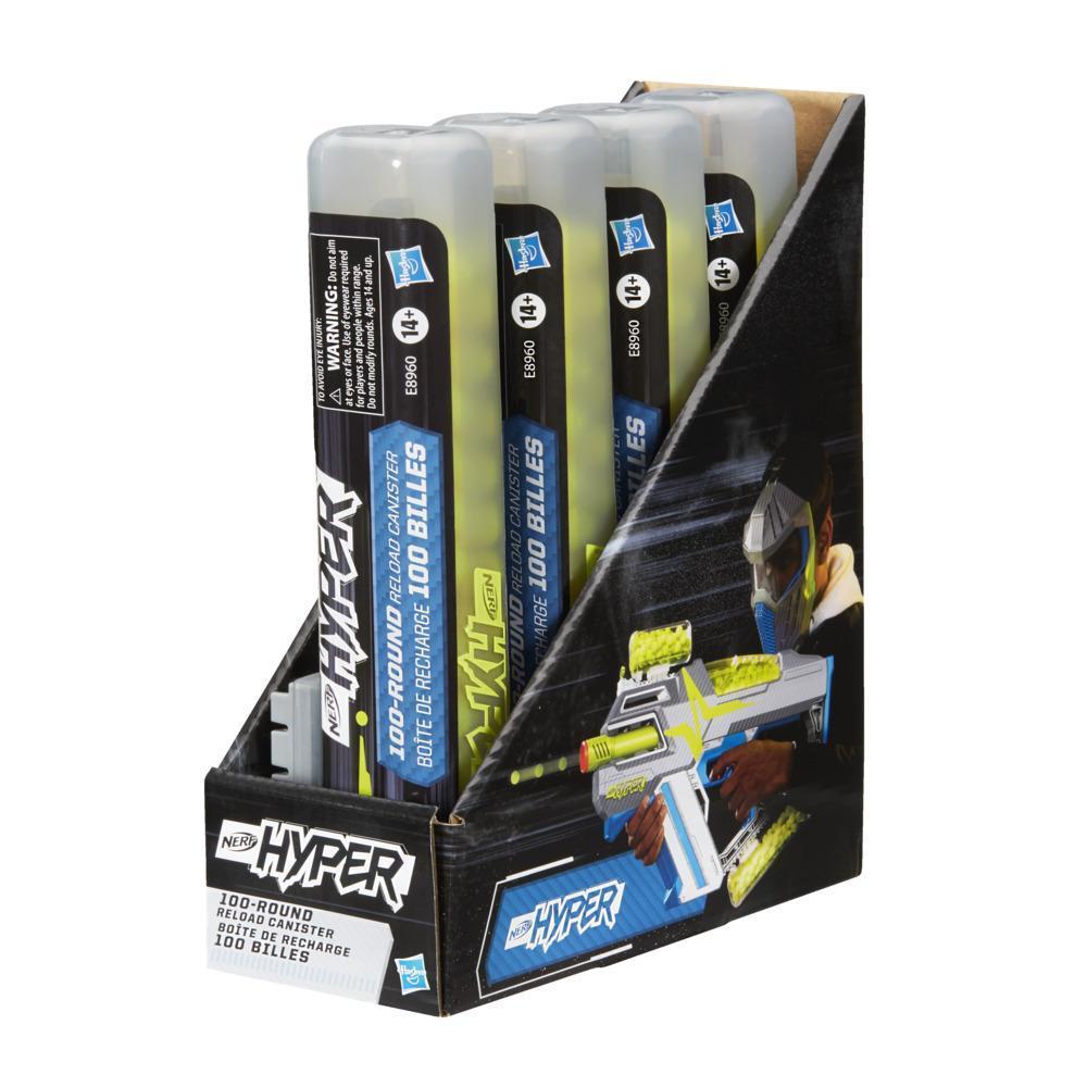 Nerf Hyper, cartouche de 100 billes en mousse, inclut cartouche à remplissage facile et 100 billes en mousse Nerf Hyper