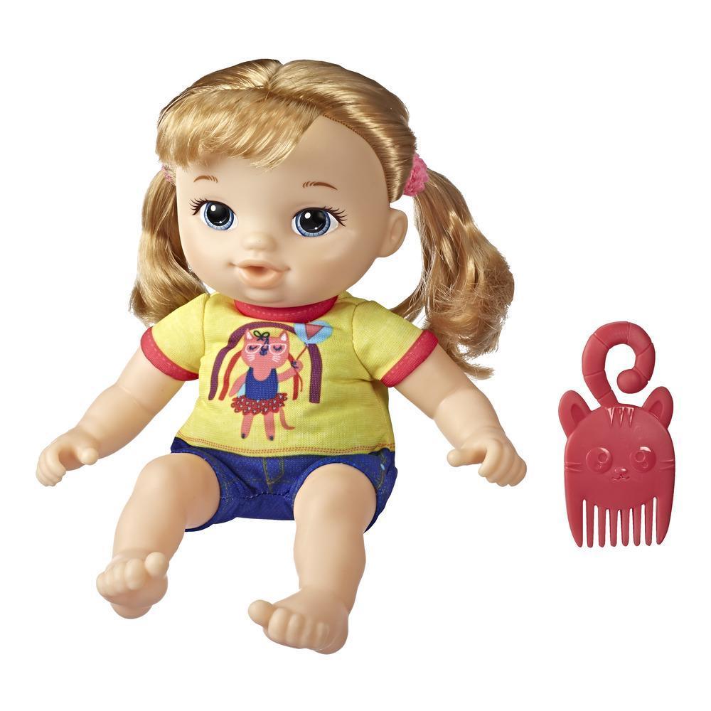 Littles, Baby Alive, Petite Astrid, cheveux blonds, poupée et peigne, taille : 22,5 cm, pour enfants, à partir de 3 ans
