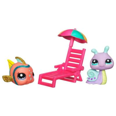 PETSHOP DUO BRILLANT POISSON ET ESCARGOT