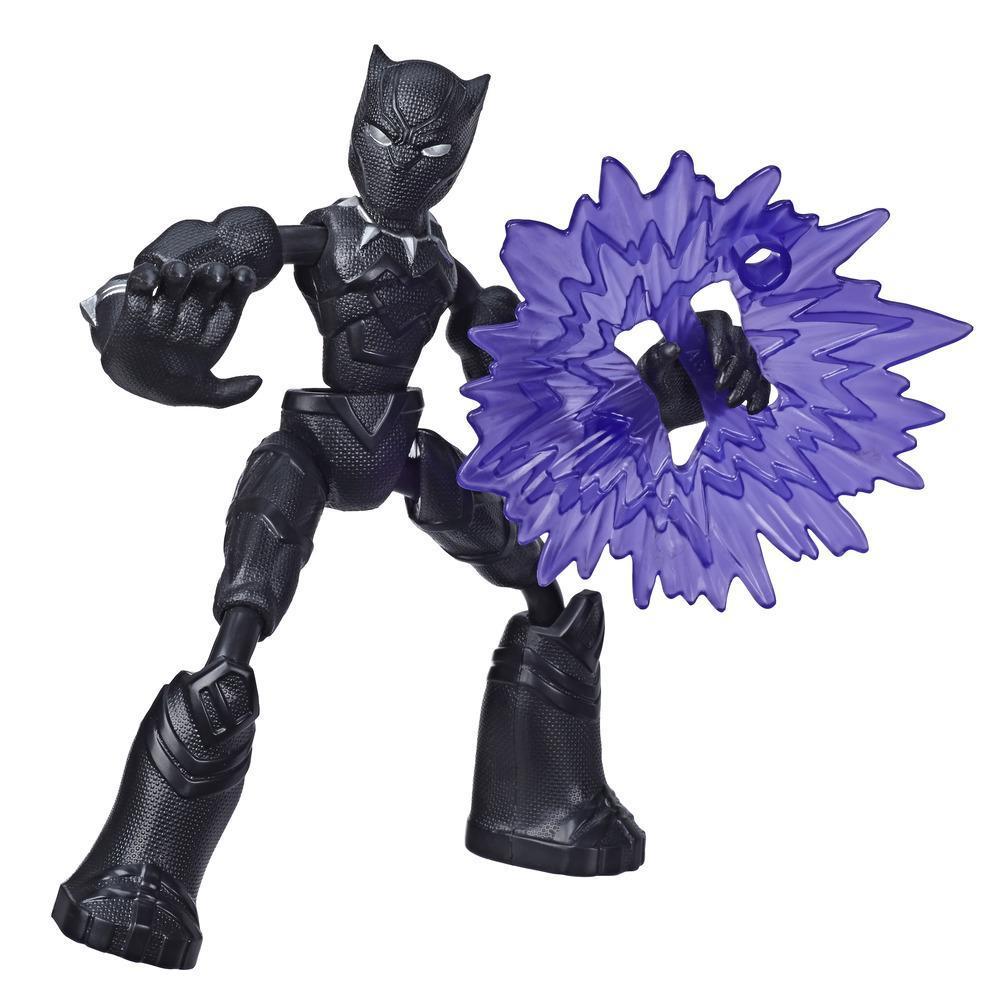 Marvel Avengers Bend and Flex  - Figurine articulée Black Panther de 15 cm flexible, avec accessoire, à partir de 6 ans