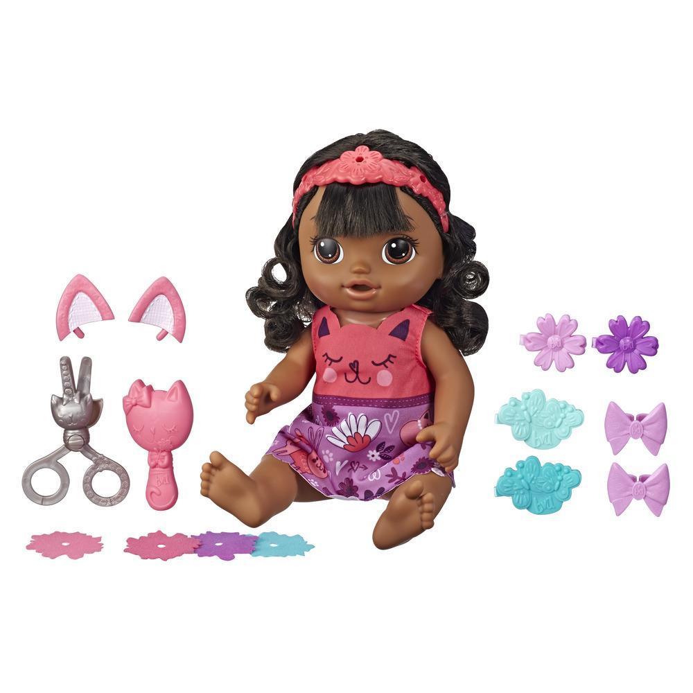 Baby Alive, Bébé Coiffure magique, poupée parlante aux cheveux noirs avec frange qui pousse et raccourcit, jouet pour enfants, à partir de 3 ans