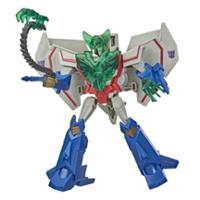 Transformers Bumblebee Cyberverse Adventures, Battle Call Starscream, classe Soldat, lumières Energon activées par la voix