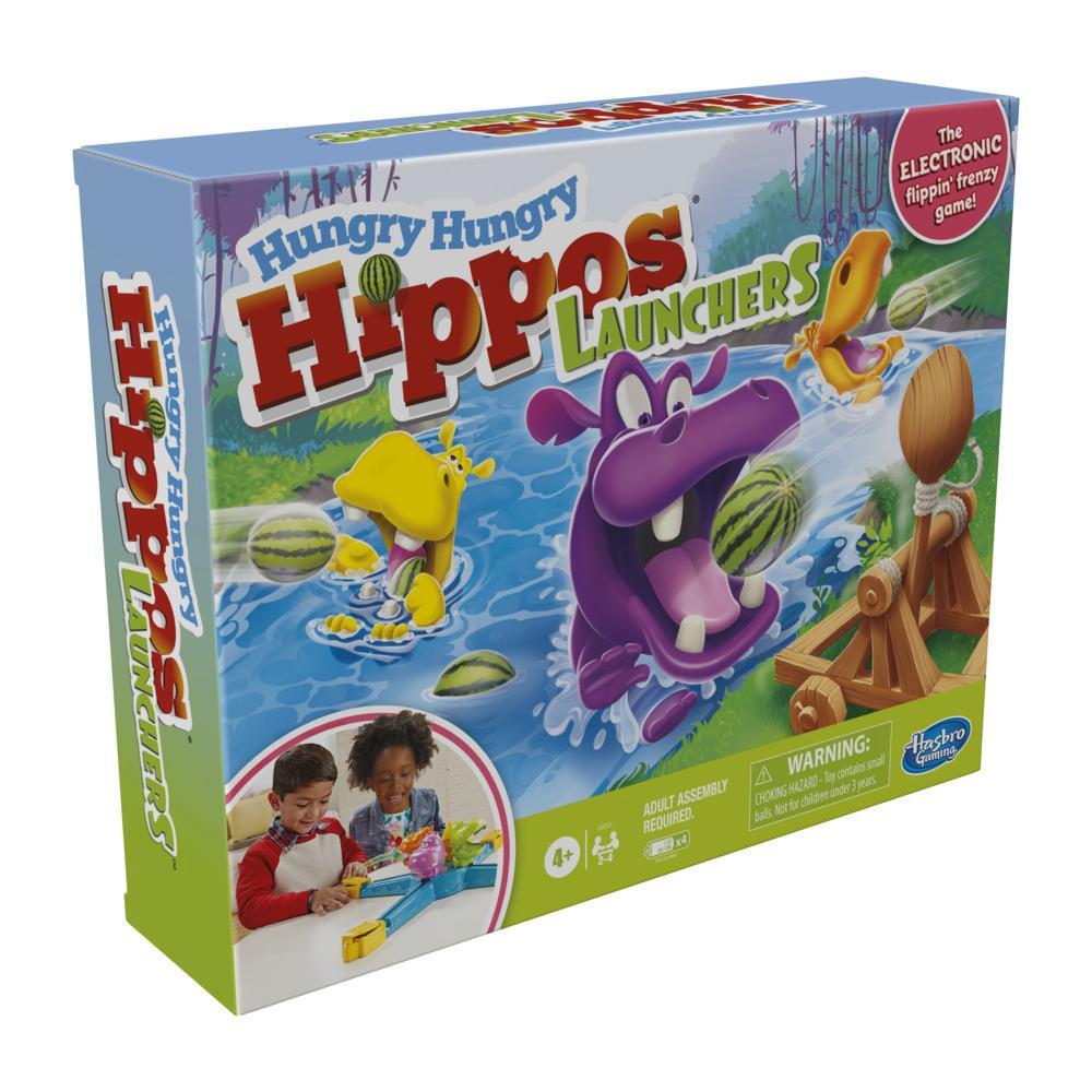 Hungry Hungry Hippos Catapultes, jeux pour enfants, à partir de 4 ans, jeu électronique préscolaire pour 2 à 4joueurs