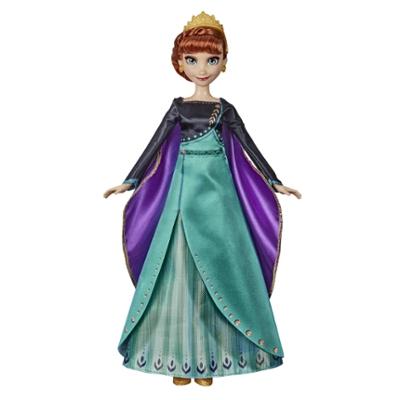 Disney La Reine des neiges - Poupée Anna chantante Tenue de reine