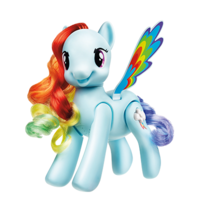 My Little Pony - Rainbow Dash saute et vole