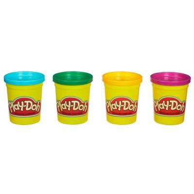 Play-Doh 4 pots couleurs vives