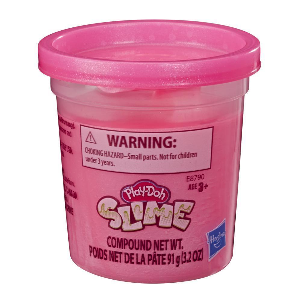Play-Doh Slime - Pot individuel de pâte rose métallique