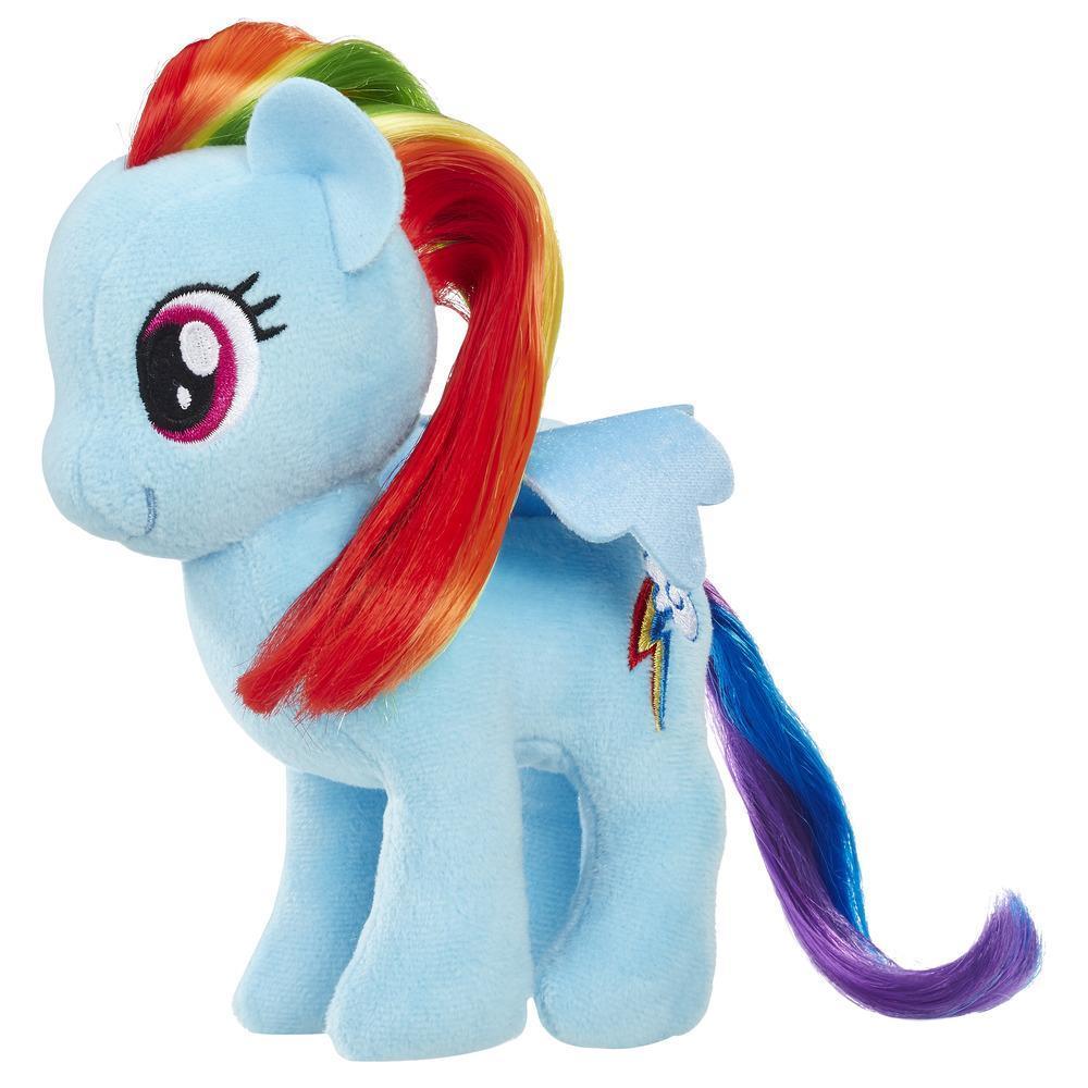 MLP Peluche Princesse Vraie Crinière 16cm Rainbow Dash