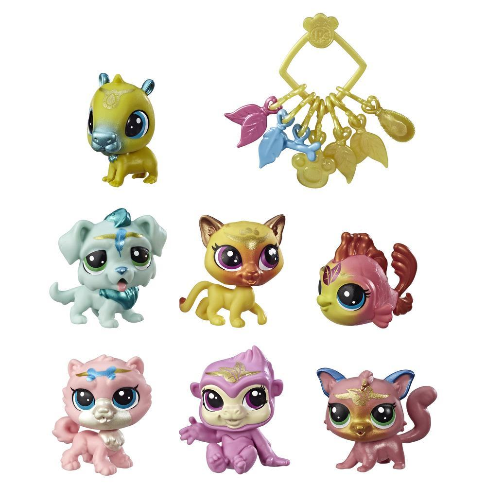 Boule de Crystal Pet Shop - 7 figurines singles, une cocotte