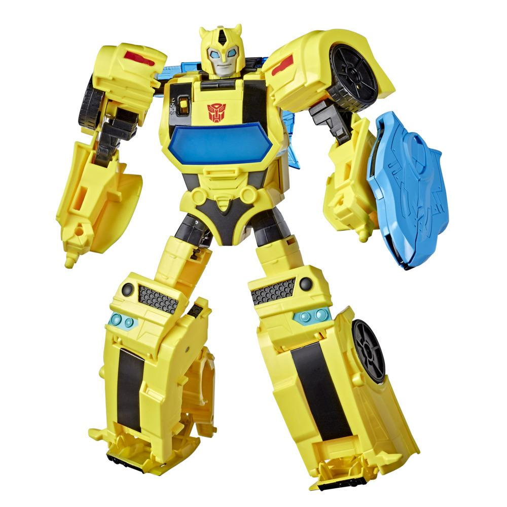 Transformers Bumblebee Cyberverse Adventures Battle Call Bumblebee, classe Officier, sons et lumières activés par la voix